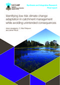 Identifying low risk climate change adaptation in catchment management while avoiding unintended consequences