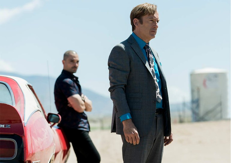 Bob Odenkirk as Jimmy McGill, Michael Mando as Nacho Varga - Better Call Saul Photo