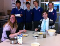 Mr Cargill and Ms Poultney are served their pikelets!