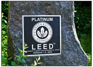 Platinum LEED sign