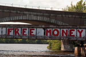free money bridge sign