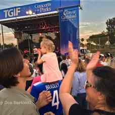 JUNE 28, 2019. CARLSBAD, CA. Dancers of all ages enjoy the music of Uptown Funk USA at the TGIF Concerts in the Parks at Stagecoach Park. (Photograph by Don Bartletti)