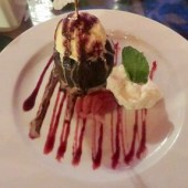 Chocolate Lava Cake and Ice Cream