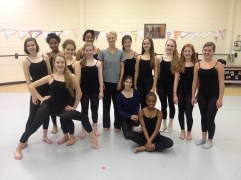 Karola Luttringhaus with dancers from Weaver Academy.