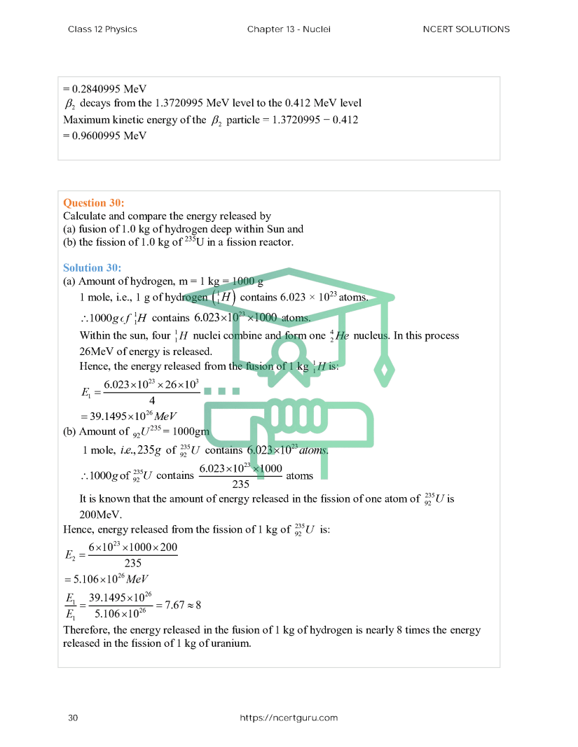 NCERT Solutions for Class 12 Physics Chapter 13