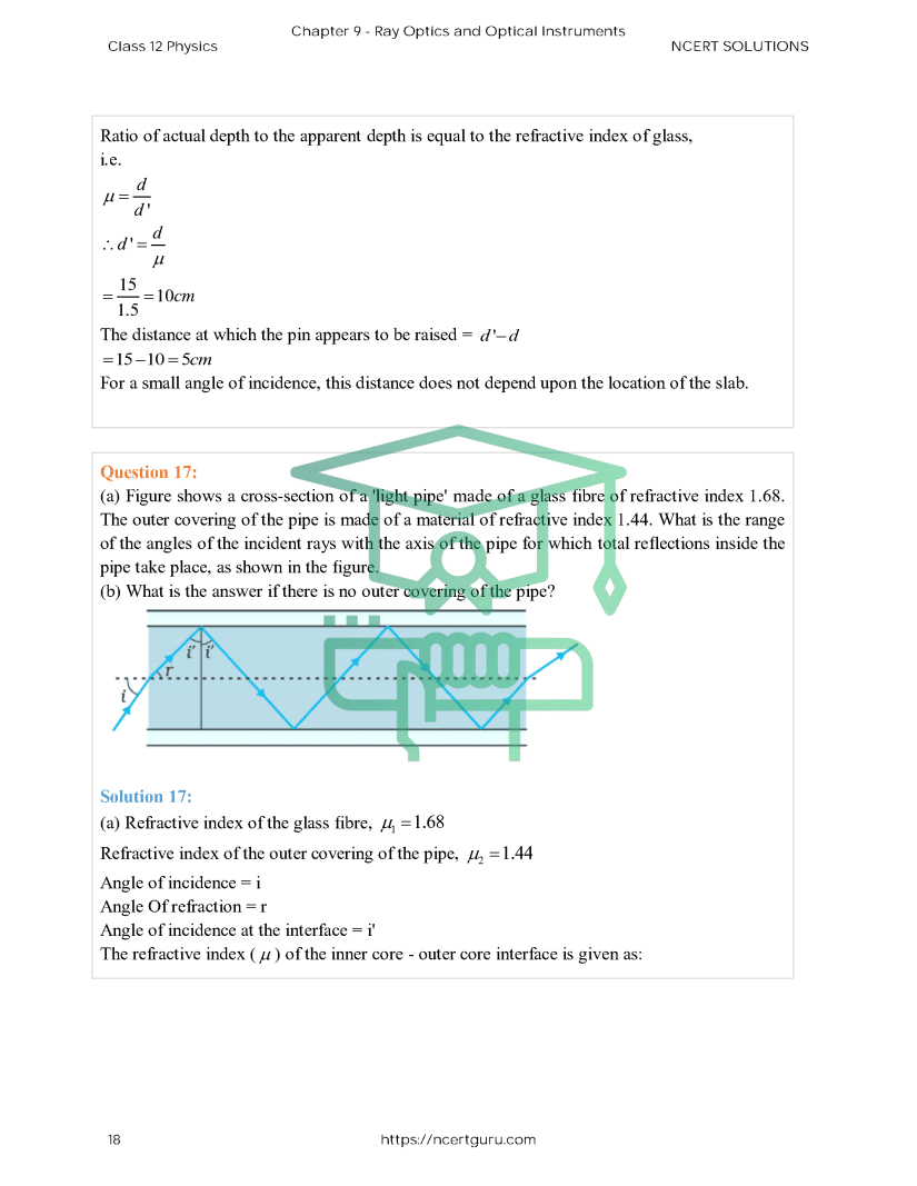 NCERT Solutions for Class 12 Physics Chapter 9