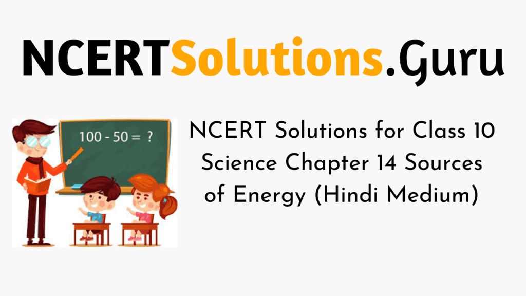 NCERT Solutions for Class 10 Science Chapter 14 Sources of Energy (Hindi Medium)