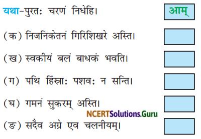 NCERT Solutions for Class 8 Sanskrit Chapter 4 सदैव पुरतो निधेहि चरणम् Q4