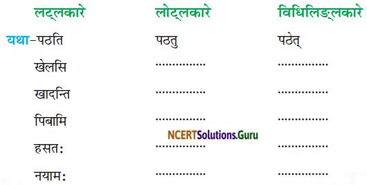 NCERT Solutions for Class 8 Sanskrit Chapter 4 सदैव पुरतो निधेहि चरणम् Q7