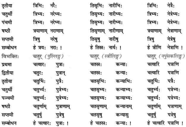 Class 7 Sanskrit Grammar Book Solutions संख्यावाचक-विशेषणपदानि 3