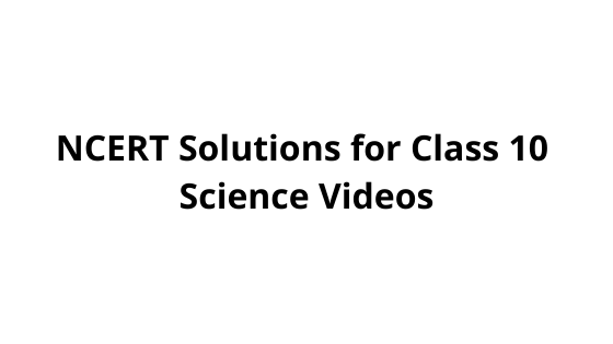 NCERT Solutions for Class 10 Science Videos