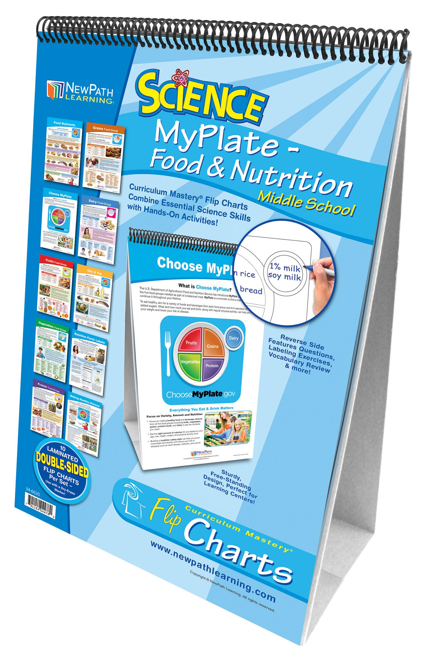 Myplate Food Amp Nutrition Flip Chart Set