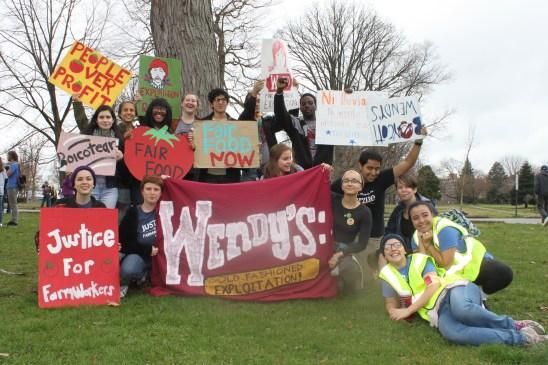 15 students and community members traveled to Columbus to join the CIW in a weekend of action.