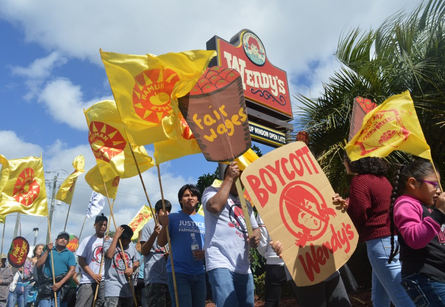 Boycott Wendy's! Local protest highlights abuse of farmworker women