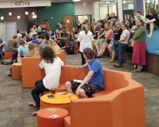 Pizza with the Provost: Over 120 students showed up to voice concerns about library changes