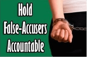 Law term for false accusations of sexual harassment