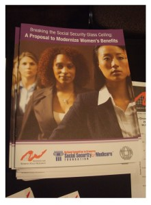 women and social security framed