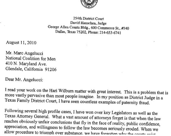 letter meme for judge David Hanschen