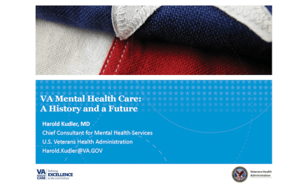 VA Mental Health Care: A History and a Future