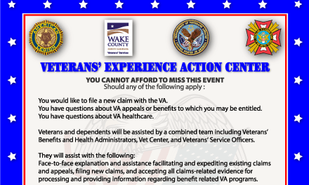 POSTPONED!! Veteran's Experience Action Center – Cary, NC