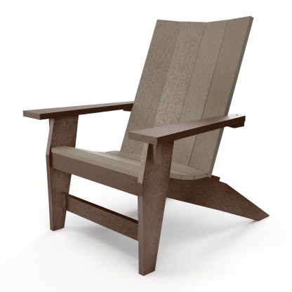 Hatteras Adirondack Chair - Chocolate/Weatherwood - HHAC1-K-CHOWW