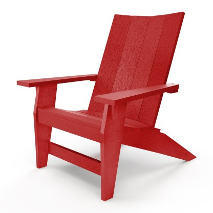Hatteras Adirondack Chair - Red - HHAC1-K-RD