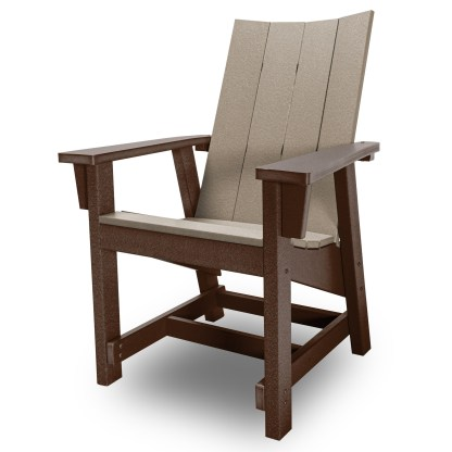 Hatteras Conversation Chair - Chocolate/Weatherwood - HHCV1-K-CHOWW