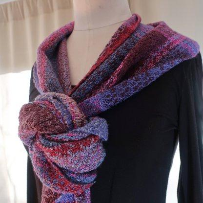 Pink, fuschia, blue, lavender and burgundy