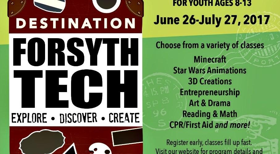 Forsyth Tech Summer Enrichment Program Invitation to NC Homeschoolers