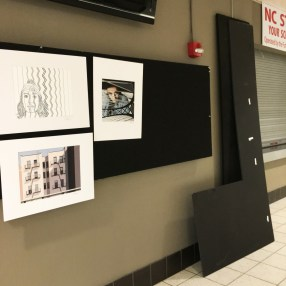 A sneak peek of some of the senior art that will be officially displayed tonight at 5.