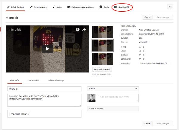 Lav undertekster til Facebook video med Youtube