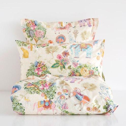 floral bed linen zara
