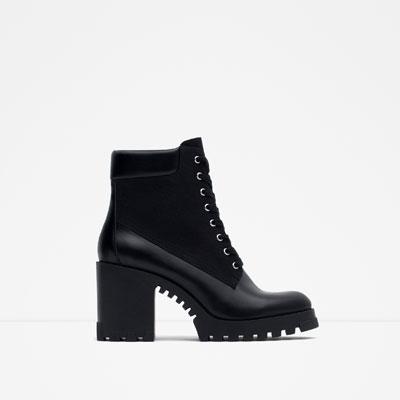 grunge boots zara