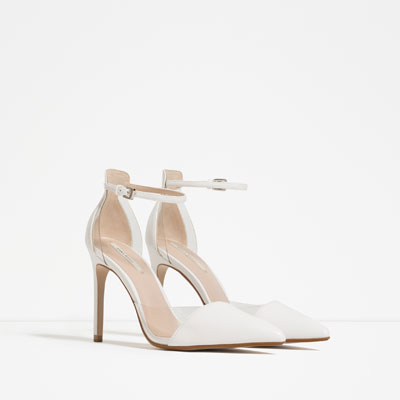 White heels ZARA S:S 16
