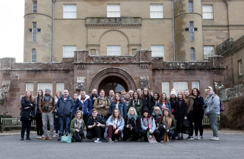 HNC Photography Class Group at Culzean Castle