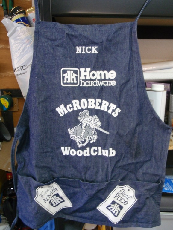 McRoberts WoodClub shop apron
