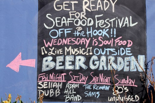 Off the Hook offered a Beer Garden with live music all weekend