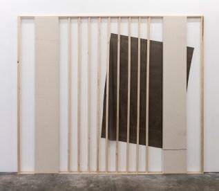 Ganz subtile Tendenzen, Oil and emulsion on canvas, pvc, wood, 202 x 240 cm, 2016
