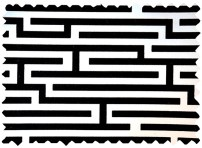 Flocked Vinyl White Black Maze