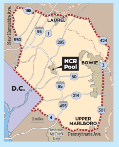 NC Pool Distance Member Map