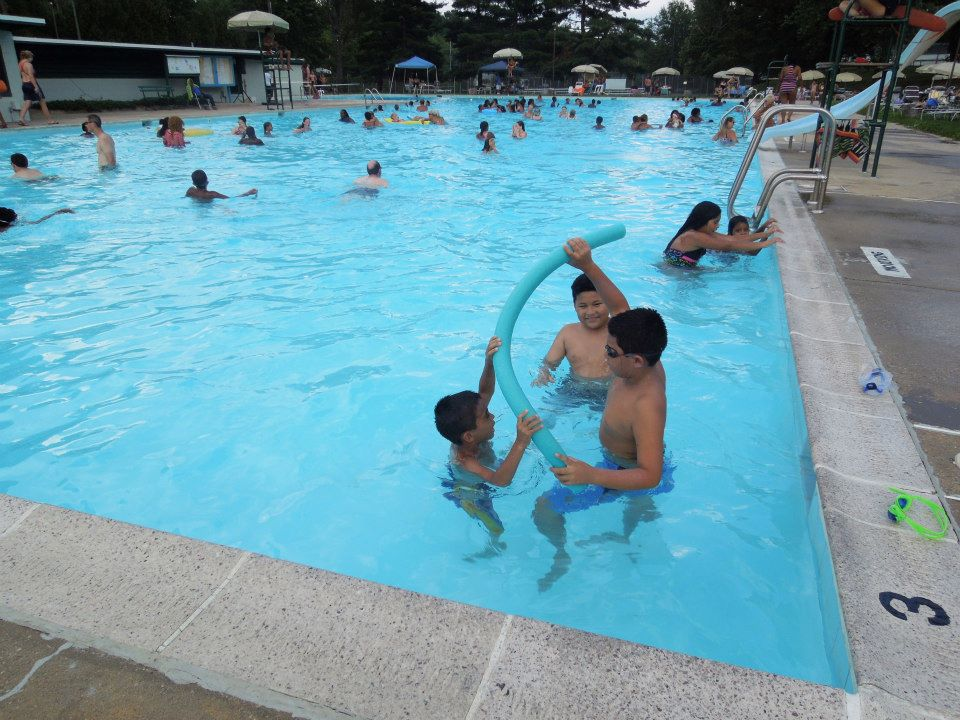 Whole bunch of fun in our pool!