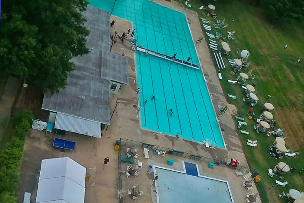 Aerial Shot of pools