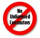 No Unlicensed Contractors