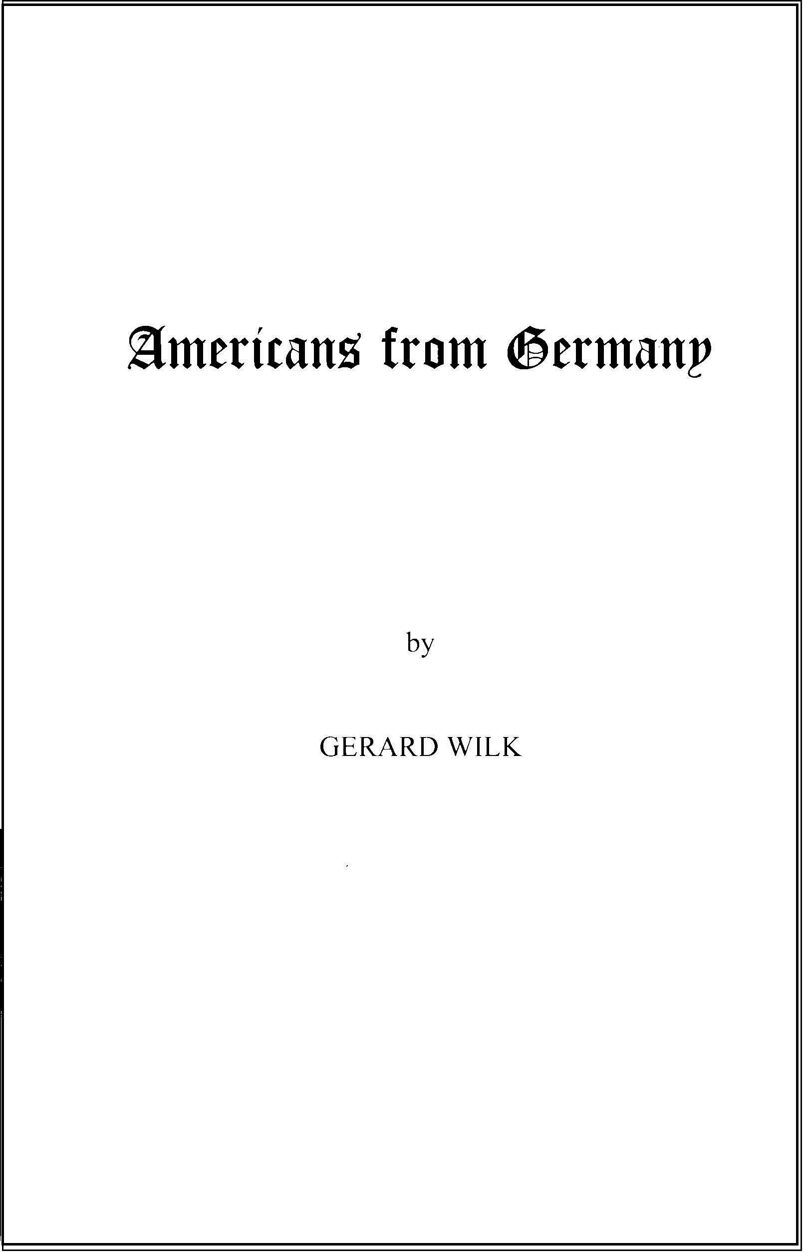Americans From Germany