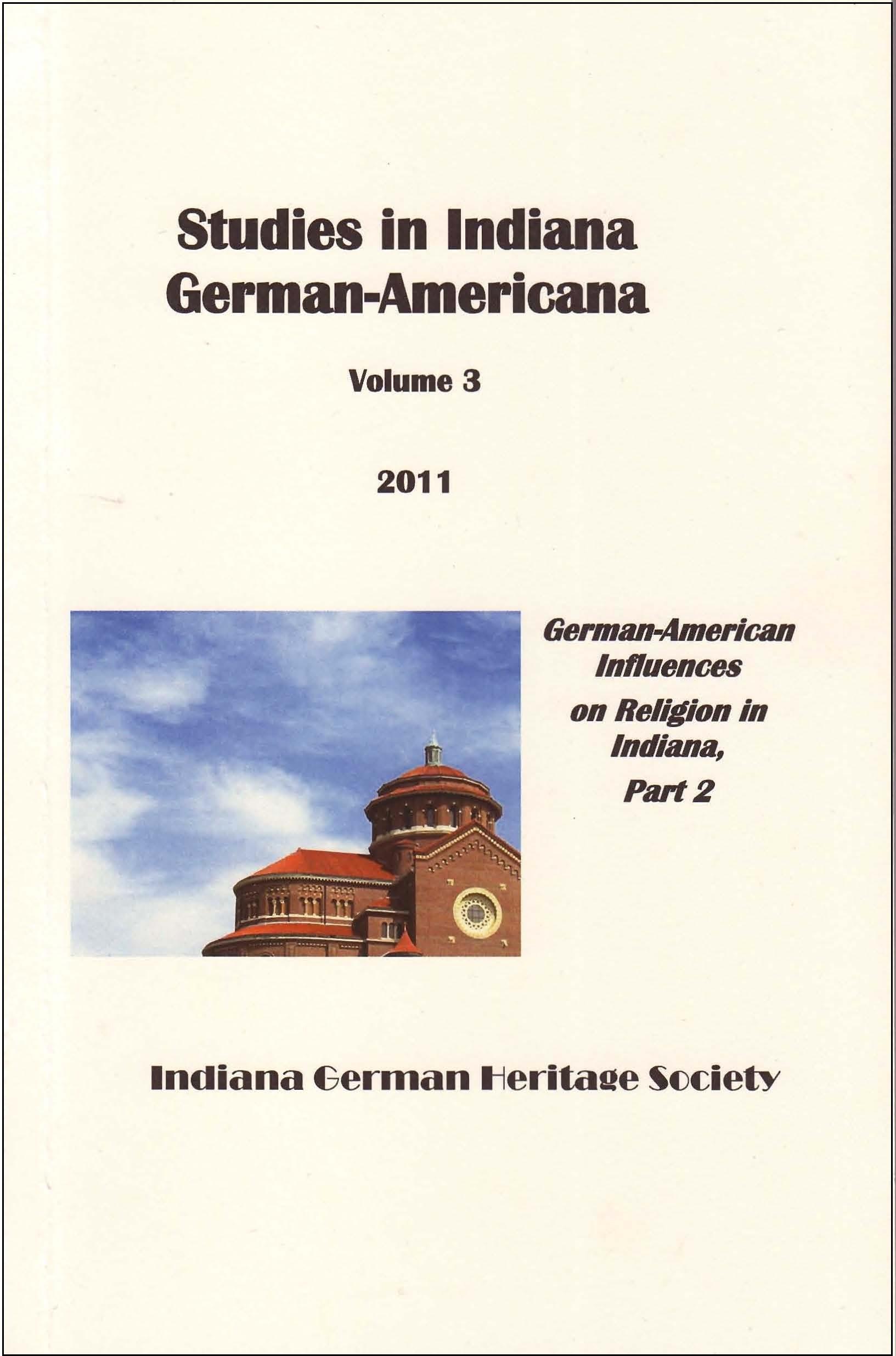 Studies in German-Americana, Vol. 3