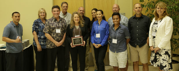 Hawaii team accepts new award recognizing exemplary regional collaborations during SSI 2015.
