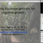 Designing Discussion Prompts for Cognitive Growth