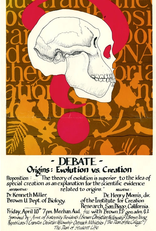 Original poster advertising the debate