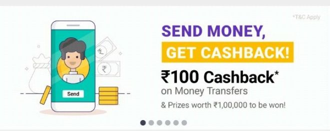 Phonepe App- Get Rs.100 Cashback On Money Transfer