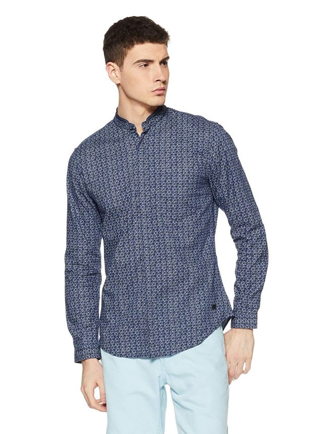 Amazon - Buy Peter England Men's Printed Slim Fit Casual Shirt Upto 70% Off Starting @Rs.400